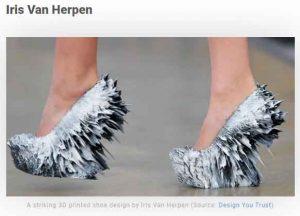 3d принтирани обувки Iris Van Herpen